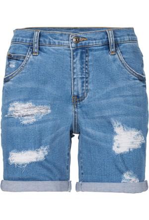 Rainbow Mavi Jean Şort