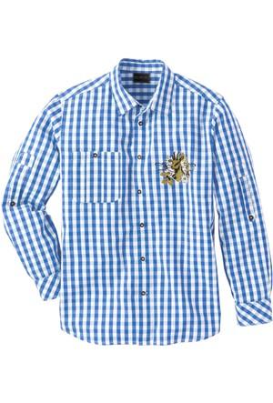 Bpc Selection Mavi Geleneksel Alman Stili Gömlek Regular Fit