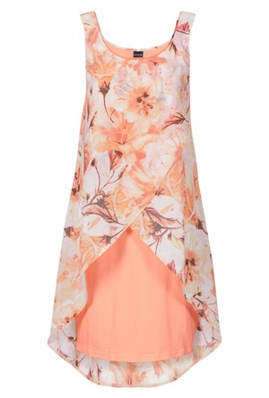 Bodyflirt Turuncu Çiçek Baskılı Elbise
