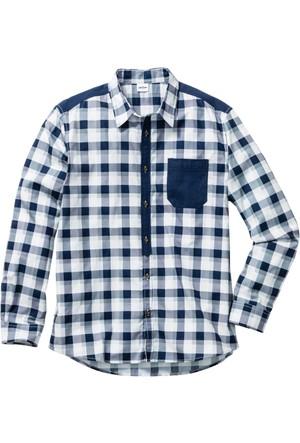 John Baner Jeanswear Beyaz Uzun Kollu Kareli Gömlek Regular Fit