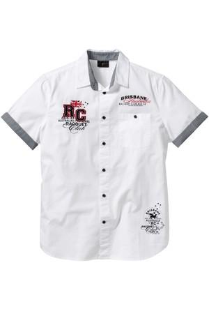 Bpc Selection Beyaz Kısa Kollu Gömlek Regular Fit