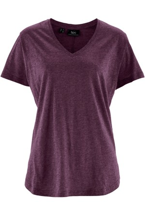 Bpc Bonprix Collection - Lila V Yaka T-Shirt