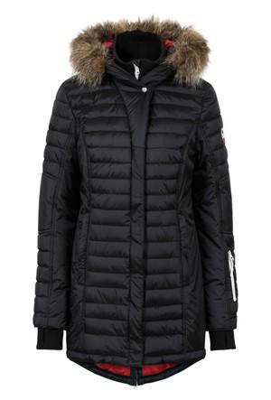 Bpc Bonprix Collection - Siyah Outdoor Uzun Kapitone Mont