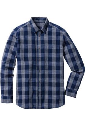 John Baner Jeanswear Mavi Uzun Kollu Gömlek Regular Fit