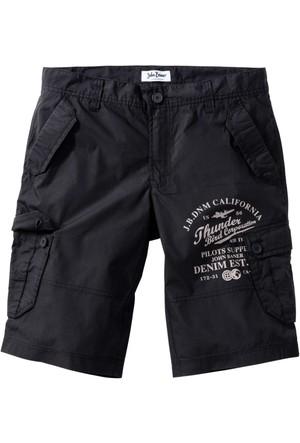 John Baner Jeanswear Siyah Bermuda