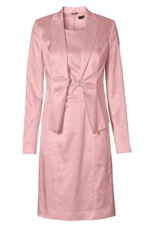 Bodyflirt Pembe Blazer Ceket + Elbise 2 Parça Set