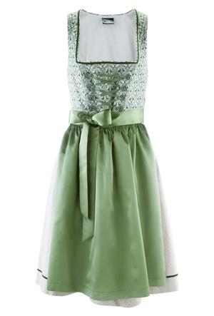 Bpc Bonprix Collection Gri Geleneksel Alman Stili Önlüklü Elbise Diz Hizasında