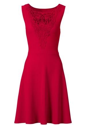 Bodyflirt Kadın Kırmızı Dantelli Elbise