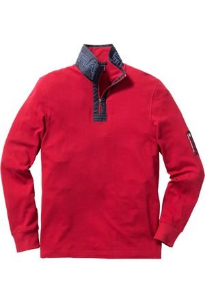 Bpc Selection Kırmızı Uzun Kollu Dik Yaka T-Shirt Regular Fit