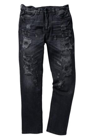 Rainbow Siyah Jean Regular Fit Straight İnç Uzunluğu 32