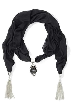 Bpc Bonprix Collection - Siyah Aksesuar Detaylı Şal
