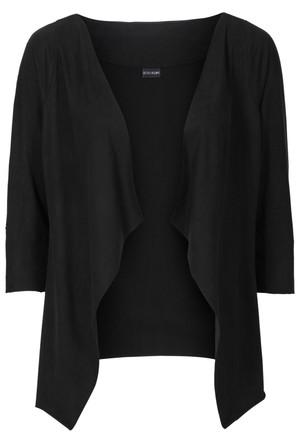 Bodyflirt Siyah Suni Velur Deri Kısa Ceket