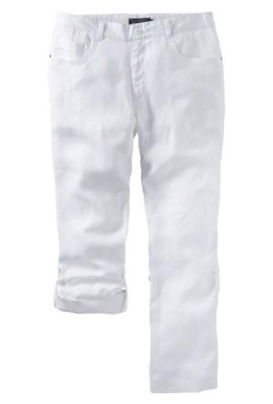Bpc Selection Beyaz Keten Pantolon