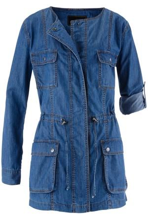 Bpc Selection Mavi Uzun Jean Ceket
