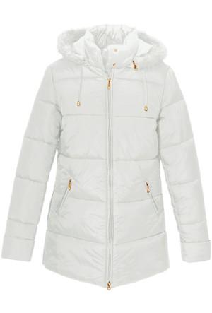 Bpc Selection Beyaz Sıcak Tutan Uzun Ceket
