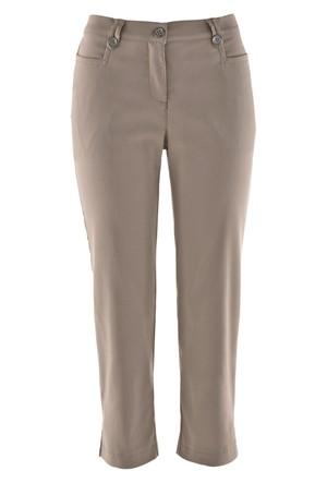 Bpc Bonprix Collection Kahverengi 3/4 Paça Bengalin Pantolon