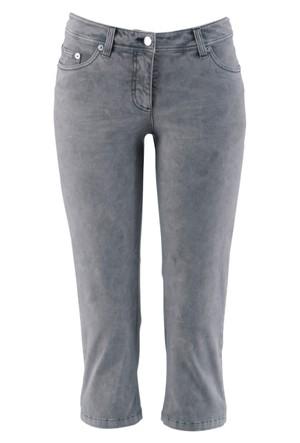 Bpc Bonprix Collection Gri 3/4 Paça Streç Pantolon