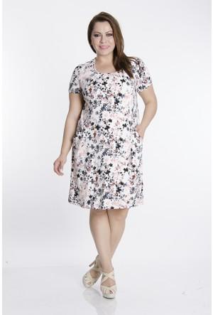 Tepa Beyaz Çiçekli Momy Elbise