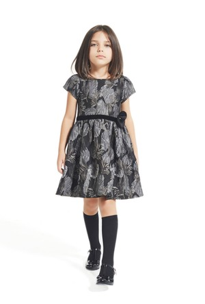 Goose Kız Çocuk Çiçek Jakarli Elbise