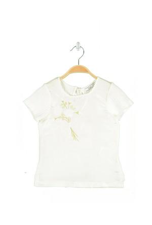 Goose Kız Çocuk Omuzu Brodeli T-Shirt