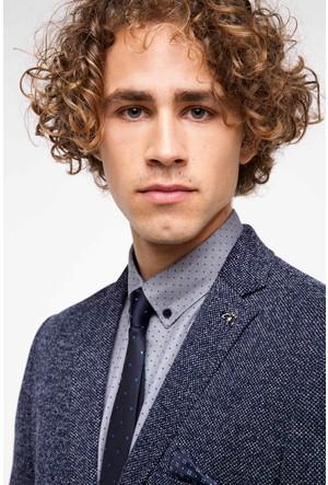DeFacto Erkek Mavi Blazer Ceket