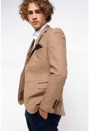 Defacto Erkek Camel Cep Kapaklı Ceket