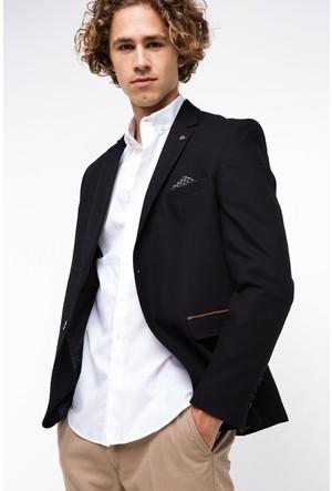 Defacto Erkek Siyah Cep Kapaklı Ceket