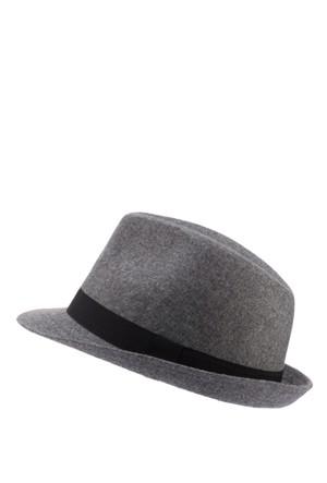 Defacto Erkek Gri Fötr Şapka
