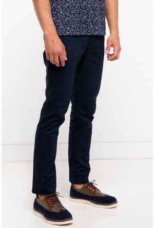 Defacto Erkek Lacivert Gabardin 5 Cep Pantolon