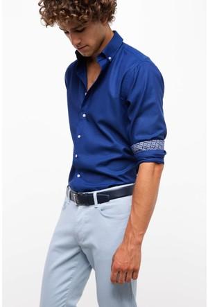 Defacto Erkek Mavi Modern Fit Gömlek