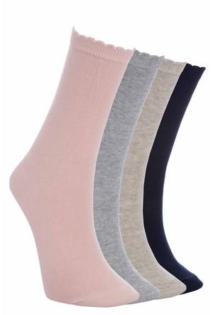 Defacto Kadın Renkli 4'Lü Basic Çorap Seti