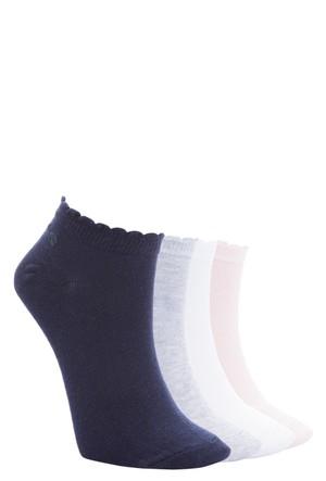 Defacto Kadın Renkli 4'Lü Patik Çorap