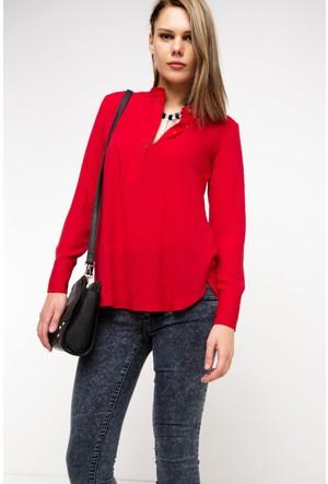 Defacto Kadın Kırmızı Trend Gömlek