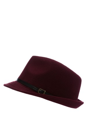 Defacto Kadın Bordo Trend Şapka