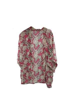 Coquet Accessories Tropik Desenli Kimono