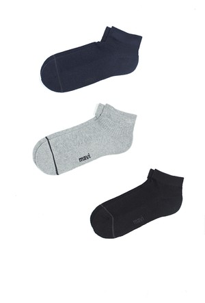 Mavi Üçlü Paket Çorap