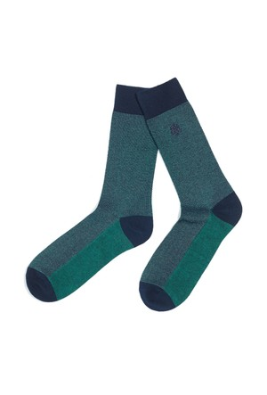 Mavi Çam Yeşili Çorap