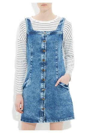 Mavi Edith Açık Mavi Retro Vintage Jean Etek