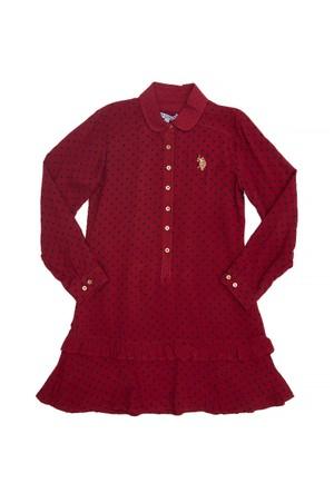 U.S Polo Assn. Tedy Kız Çocuk Dokuma Elbise