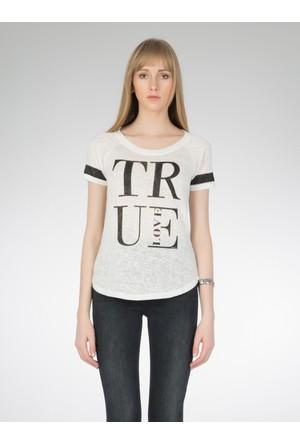 Colin's Beyaz Kadın T-Shirt Kısa Kol