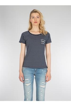Colin's Lacivert Kadın T-Shirt Kısa Kol