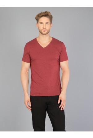 Colin's Bordo Erkek Kısa Kol T-Shirt