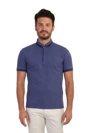 Kiğılı Polo Yaka Tasarım T-Shirt 122233