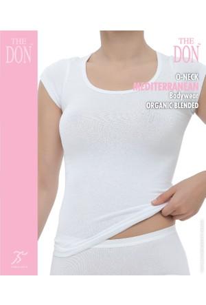 TheDON Bayan 0-Neck Beyaz Renk