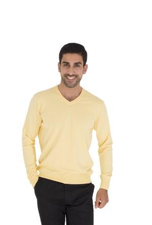 TheDON V Yaka Sarı Renk Erkek Triko