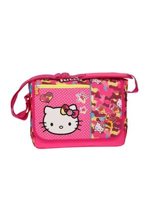 Hello Kitty Hello Kıtty Postacı Çanta Pembe Kız Çocuk Postacı Çantası