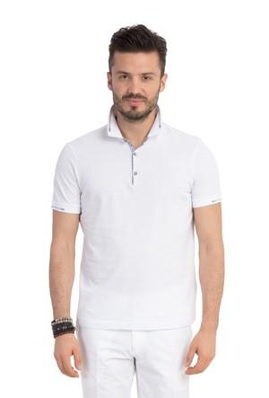 Kiğılı Polo Yaka Slimfit Tasarım T-Shirt 121326