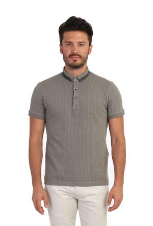 Kiğılı Polo Yaka Tasarım T-Shirt 122234