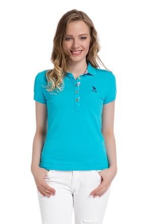 U.S. Polo Assn. Kadın Mavi T-Shirt
