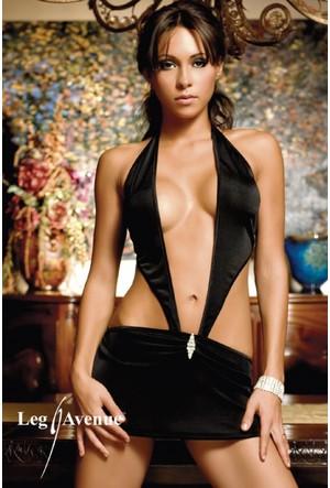 Leg Avenue Siyah Mayokini Mini Elbise 86024sy